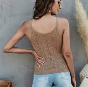 AMERICAN EAGLE OUTFITTERS CROCHET TOP SIZE MEDIUM